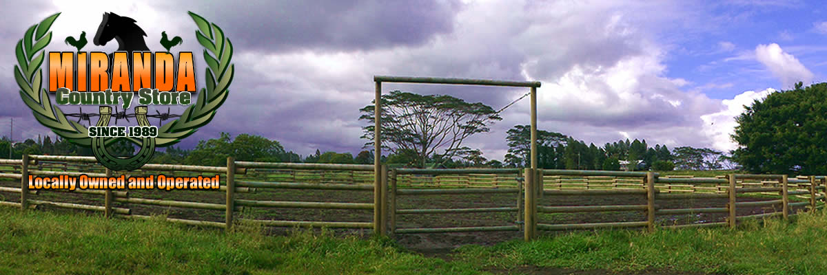 Corral fencing, custom gates in Mountain View, Hawaii